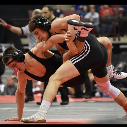 Genoa's Dylan D'Emilio earned his third straight state