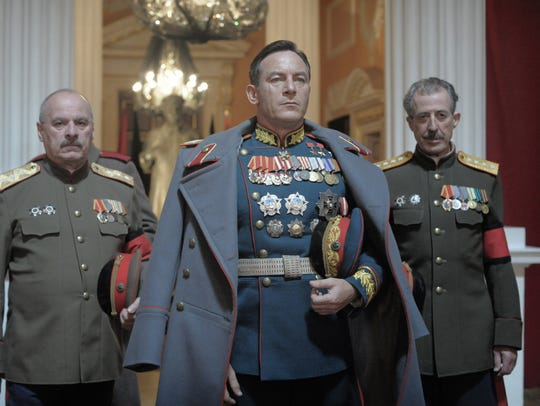 Zhukov (Jason Isaacs) knows how to make an entrance
