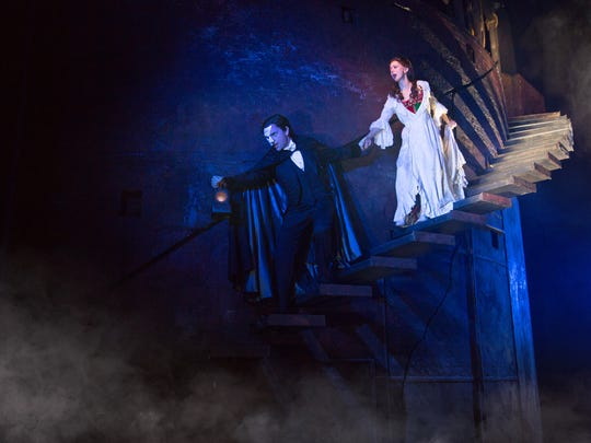 """Chris Mann and Katie Travis in """"The Phantom of the"""