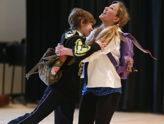 "Eloise Field (right) and Thatcher Jacobs rehearse a scene from First Stage's ""Judy Moody & Stink"" at the Milwaukee Youth Arts Center, 325 W. Walnut St. Thousands of students visit the center each week for First Stage and Milwaukee Youth Symphony Orchestra rehearsals, classes and performances."