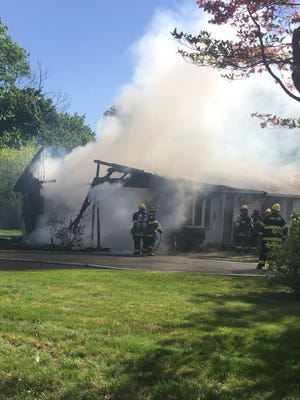 Firefighters battled a residential fire in the 1500 block of Harding Road Friday morning.