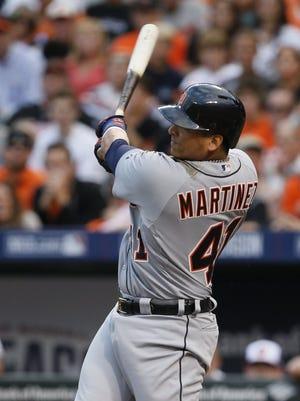 The Detroit Tigers' Victor Martinez.