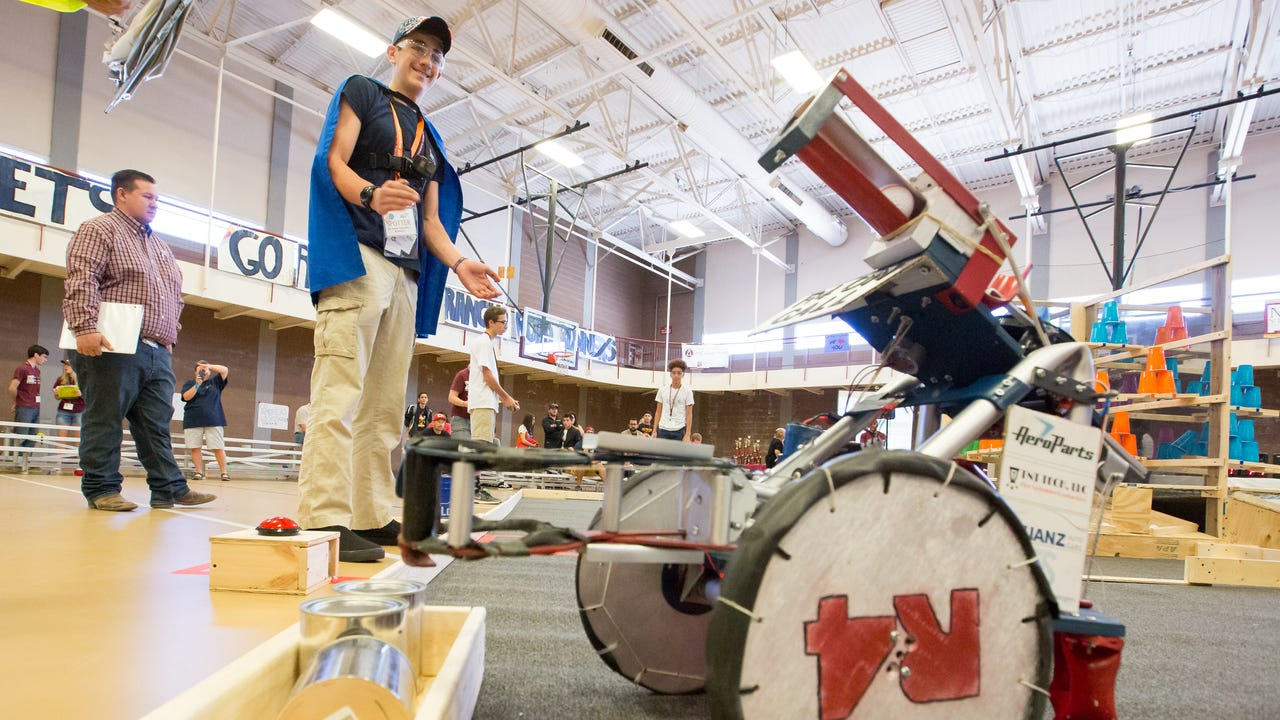 Twenty-seven middle and high school teams from New Mexico, Arizona and Texas gathered Saturday at New Mexico State University to compete in the annual NM BEST Robotics Competition.