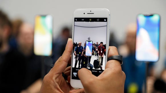 The New IPhone 8 Plus Is Displayed In Showroom