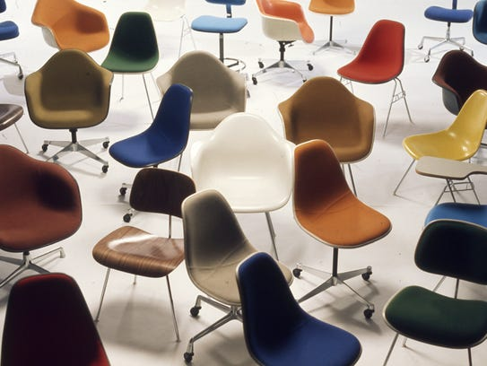 Herman Miller chairs were mass-produced with interchangeable