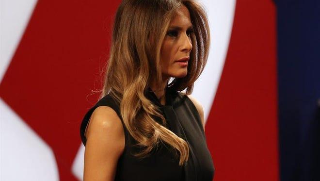 Melania Trump asiste al debate entre los candidatos a la presidencia de los EE.UU. la demócrata Hillary Clinton y el republicano Donald Trump.