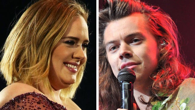 Adele and Styles.