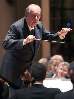 Rafael Fruhbeck de Burgos was a creative director of the Cincinnati Symphony Orchestra, shown here in Music Hall.