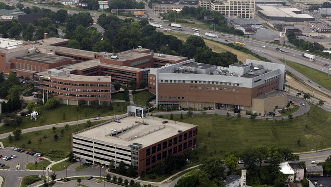 AERIAL-LOCAL: Tuesday July 8, 2014: An aerial view of Cincinnati State Technical and Community College. The Enquirer/Glenn Hartong. gh