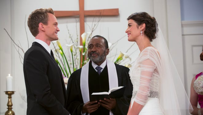 Robin (Cobie Smulders) and Barney (Neil Patrick Harris) reach 'The End of the Aisle' next Monday.