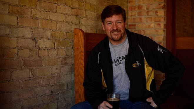 Terry Taylor, who owns Chatterhouse Brewery in Denmark, has his beer available at George Street Connection in De Pere.