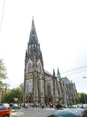 The 141-year-old St. Joseph Catholic Church near Eastern Market in Detroit.