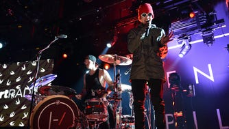 Twenty One Pilots, shown performing at iHeartRadio Theater LA on May 19, 2015.