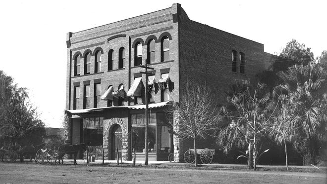 With its second floor high-ceiling ballroom, the Tempe Hardware building was the perfect place for a Christmas pageant in 1906.