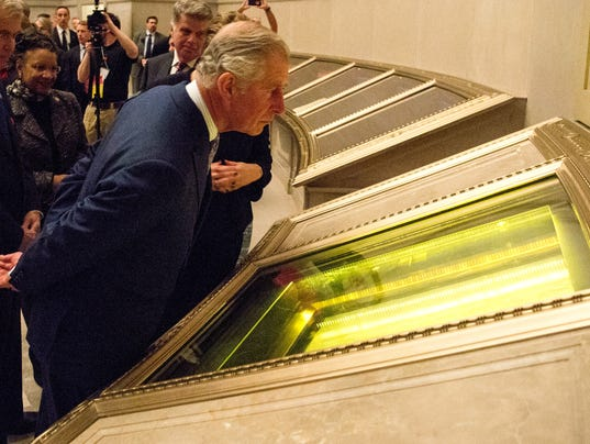 Prince Charles at National Archives