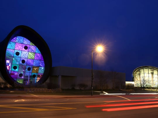 The Strong National Museum of Play in downtown Rochester at dusk.