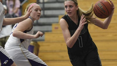 Fossil Ridge's Sami Steffeck, shown in a file photo, scored a game-high 15 points to lead the SaberCats to a win over Valor Christian in their season opener.