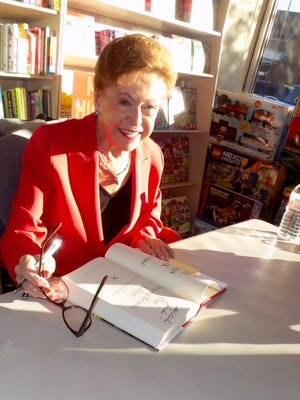"#1 New York Times Bestselling author, Mary Higgins Clark signs ""The Sleeping Beauty Killer"" at Bookends, an independent bookstore in Ridgewood."