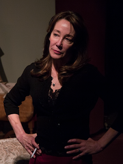 "Shari Watts as Martha in Space 55 Ensemble's ""Who's Afraid of Virginia Woolf?"""