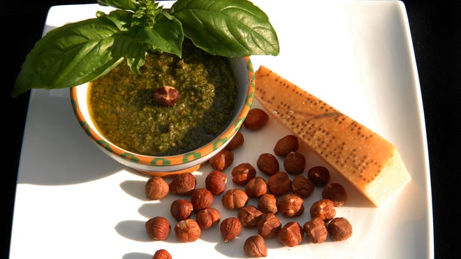 Hazelnut Pesto is an aromatic sauce of summer.