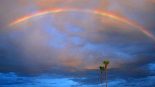 Rainbow across Scottsdale