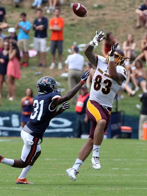 Central Michigan tight end Tyler Conklin plays against Virginia on Sept. 24, 2016.