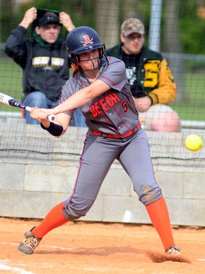 Beech High sophomore Kaylor Chaffin homered in the seventh inning of Wednesday afternoon's 14-1 victory at Gallatin. Chaffin drove in two runs and scored twice.