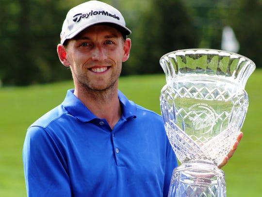 Newly crowned Michigan Open champion Matt Thompson