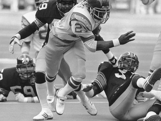 James Brooks as a Charger.