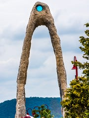 The arch at Ossining's waterfront, by artist Peter