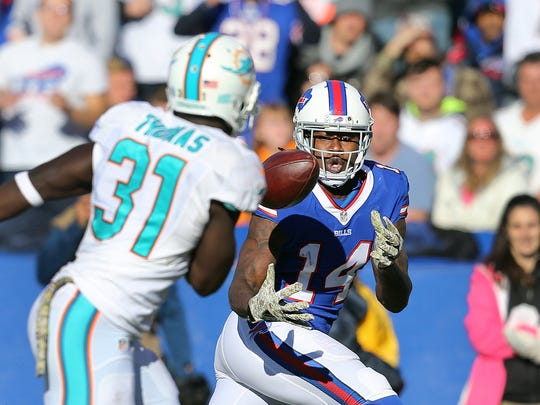Before this season, Sammy Watkins had missed only three games in his first two years in the NFL.