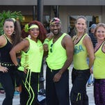 The Zumbathon Charity Event was held at the Bell Tower Shops on Saturday evening, October 3rd. The event was to benefit ATC Caring which is an organization that helps with homless families in SWFL.