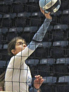 Tatiana Flores came on strong last season for the Bartlesville High volleyball team. Mike Tupa/Examiner-Enterprise