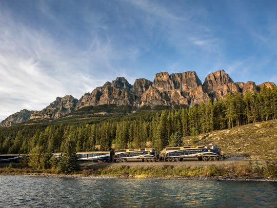 Castle Mountain, located within Banff National Park