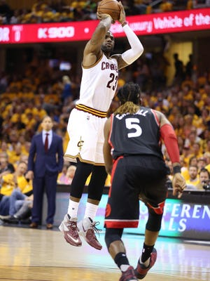 This time, LeBron James of the Cavs has a healthy Kyrie Irving and Kevin Love.