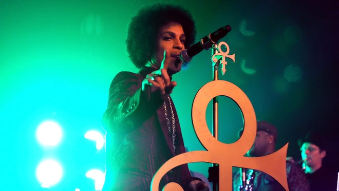 Prince gets funky at The Hollywood Palladium on March 8 in Los Angeles.
