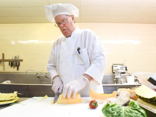 Executive Chef Russell Benedict prepares a chunky chicken