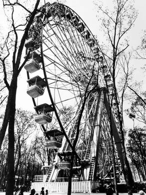 1978: Riders on the Big Wheel at Great Adventure.