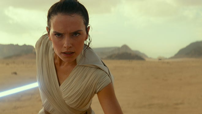 Daisy Ridley as Rey in a scene from  Star Wars: The Rise of Skywalker .