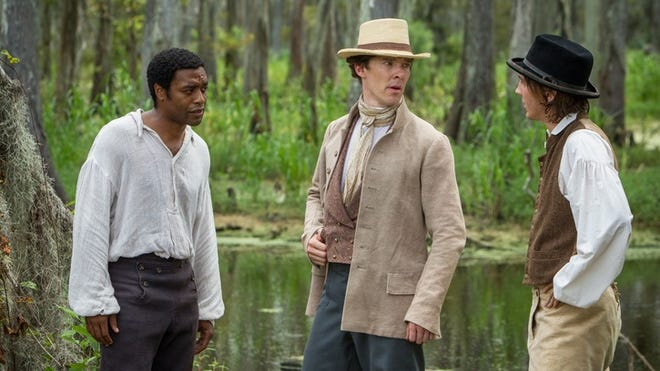 12 Years Slave earned nominations for best performance by a cast, for Chiwetel Ejiofor, left,  for best lead actor and Lupita Nyong'o, not shown, for supporting actress.