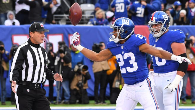 Giants running back Rashad Jennings seemed to have lost his hold on the starting job, but has produced strong games in back to back weeks.
