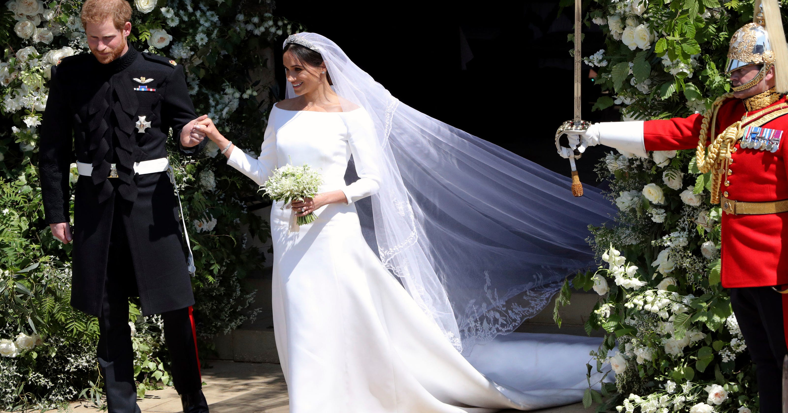 b293f1c7a8 Meghan Markle s royal wedding gown knockoffs ready to take off