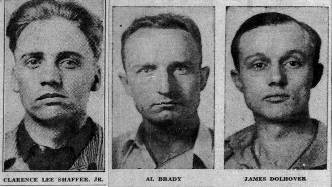 Clarence Shaffer, Al Brady and James Dolhover: The Brady gang