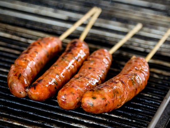 Locaniko is a Greek sausage made with orange zest and