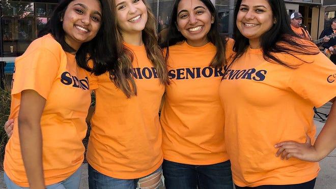 From left, Prisha Singh, Natalia Karadimitriou, Meher Gandhi and Ash Gite, 2019 graduates of Shrewsbury High School