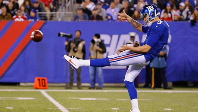 """Giants coach Ben McAdoo says punter Brad Wing is a """"weapon"""" for the team."""
