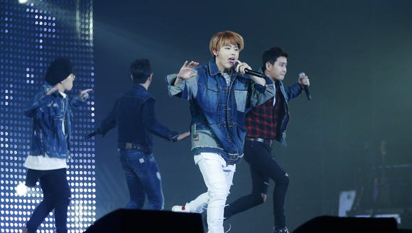 South Korean boy group Block B performs during the