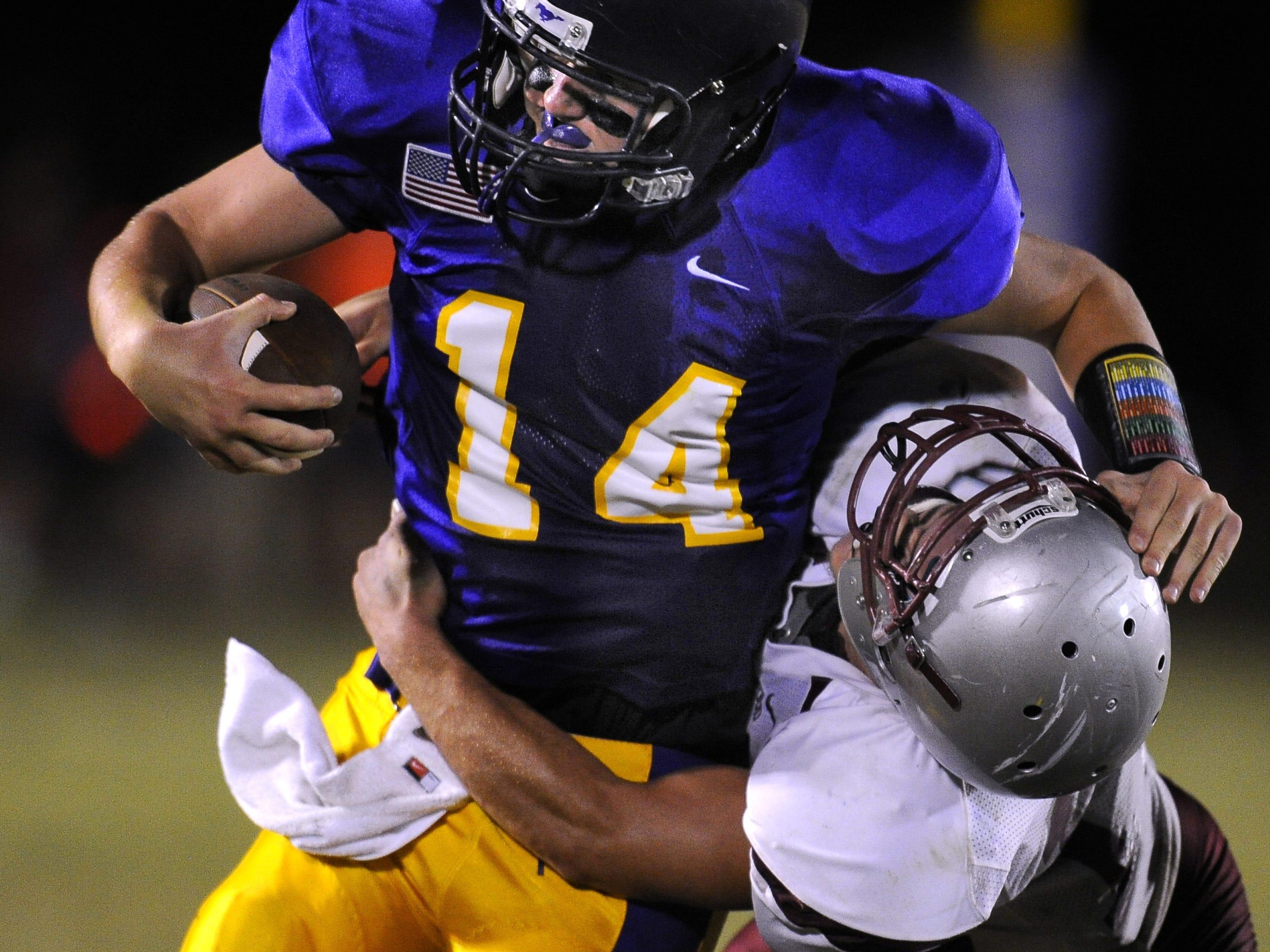 Lipscomb Academy quarterback Sy Taylor.