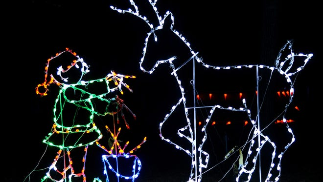 The Lake Julian Festival of Lights in Skyland is now open nightly through Dec. 23.