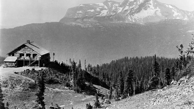Granite Park Chalet is shown here with Heavens Peak in the background, circa 1925. The museum's third documentary captured the history of Glacier National Park.